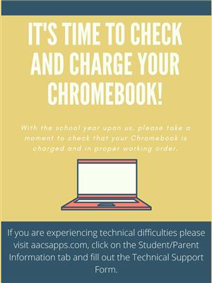Its time to check and charge your chromebook