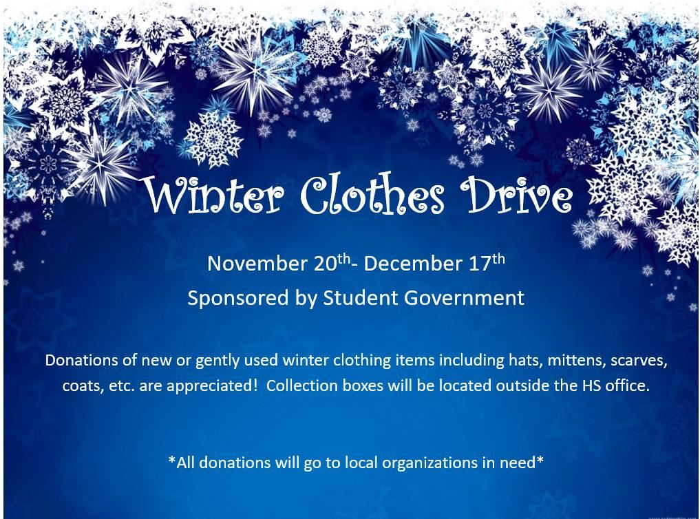Winter Clothes Drive